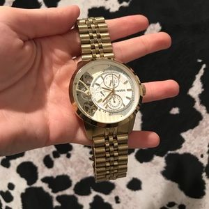 Gold Men's Fossil Watch ME1137